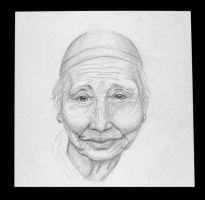 Old Asian Woman by Feuerlilie