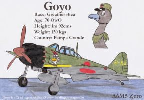 Goyo and his A6M5 Zero by DingoPatagonico