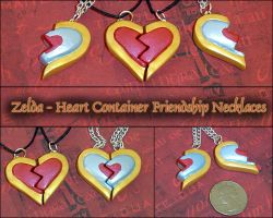 Legend of Zelda - Heart Piece Friendship Necklaces by YellerCrakka
