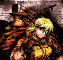 Hellsing Ultimate: Bernadotte and Seras by RizuRizuRizuki
