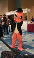 Charmander-in-a-tux cosplay by Shippuden23