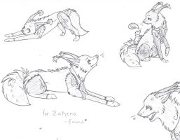 sketches for Zakeno by thelunacy-fringe