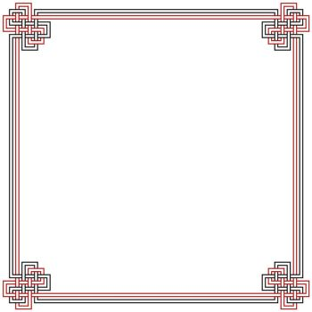 Red and Black Border by Bellairs