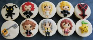 Kingdom Hearts cupcakes by whisk-us-away