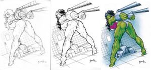 She Hulk Captured by Bambs79