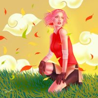 Crouching Sakura, Hidden Leaf by EisTraum
