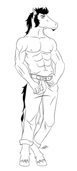 Request ::Eqqus:: Lineart by JZHorse