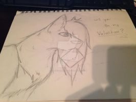 will u be my deviant valentine? by Our-September-Rain