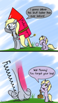 Derpys new year delivery by Kiyoshiii