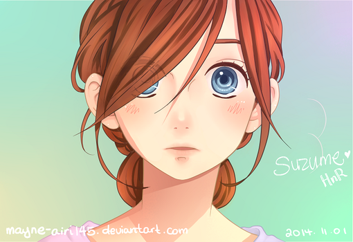 [Color] Surprised Suzume by mayne-airi145