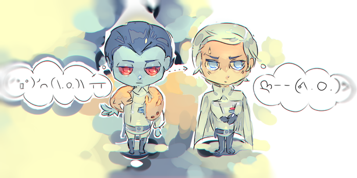 Thrawn and Krennic by Gallifreyevermore