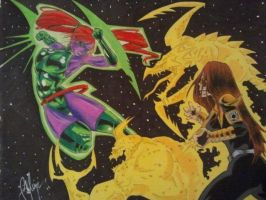 Laira vs Karu Sil by unsane-images