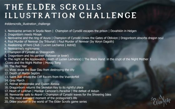 The Elder Scrolls Illustration Challenge by Erika-Xero