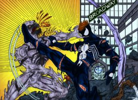 Spider-Man vs Anti-Venom by pascal-verhoef