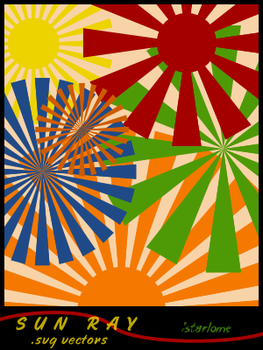 sun ray: svg vectors by istarlome