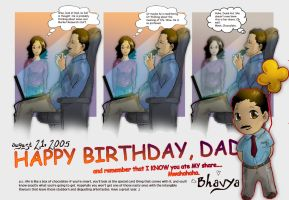 BDAY card for my Dad by staplerchild
