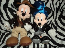 Mickey Mouse plushies by Angelwolf92