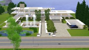 Sims 3 modern dream crib by RamboRocky
