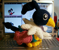 Shiny Chatot Crochet Plush by First-Mate-Kate