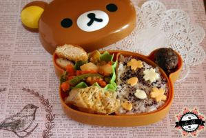 Rilakkuma and sakura flowers Bento by RiYuPai