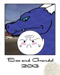 Boo and Grandel by Icedragon529