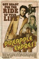 Pineapple Express retro poster by clauderains1979