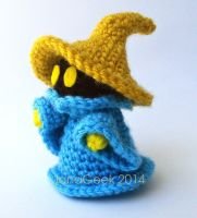 Final Fantasy Black Mage Crochet Doll by janageek