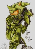 Sonic Master Chief by YDdraigGogh