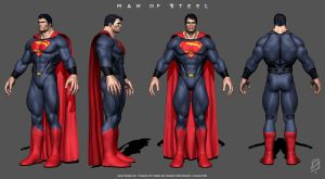 Man of Steel 2013 ZBrush by patokali