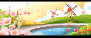 Spring Background Scene 4 by CARFillustration