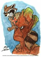 Rocket and Groot by Slasher12