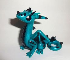 Shimmery Blue Dragon by ByToothAndClaw