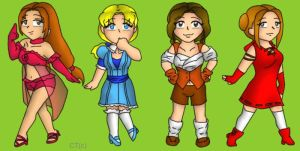 Fairytale Chibis by MuseWhimsy