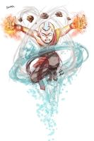 Random Aang Doodle by JD-SPEEDbit