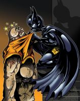 Batgirl and thug by PaulSizer