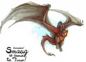 Smaug is coming to town! by BloodyDragon117