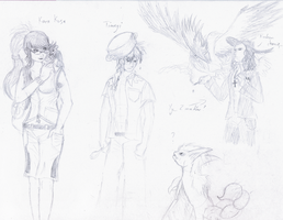 Pokemon trainers sketches... by Weirda208