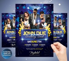 My Birthday Bash Flyer Template by Grandelelo