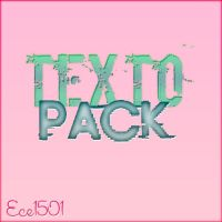 Texto Pack by ece1501