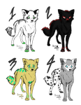 Wolf ADOPTBLES by DemonOfTheNiteWind