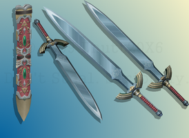 ALttP Master Sword and Sheath by d-nutt