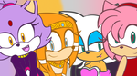 Blaze, Amy, Rouge and Tikal by melixa789456123
