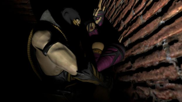 Mileena x Scorpion 3 (is this what you want?) by kitmax13
