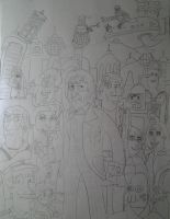 2nd Doctor Who/ Futurama (No Color) by iamtherealbender