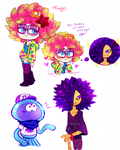 Splatoon Doodles by WhiteTigerCubMia