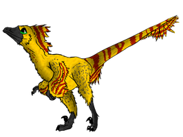 Kora The Deinonychus by ToxicKittyCat
