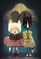 Cats in the Rain by Zakeno