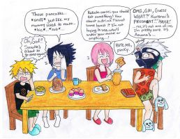 Breakfast with Team Kakashi by gejimayo