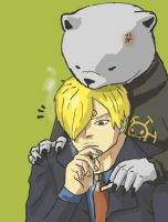Sanji and Bepo by SkyAdventure