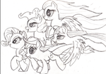 Sketch--Rainbow's Girlfriends by kittyhawk-contrail